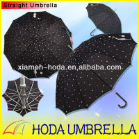 2013 Popular Black and White Dot Girl Picture Printing Straight Umbrella/12Ribs Lovely Lady's sun umbrella UVprotect
