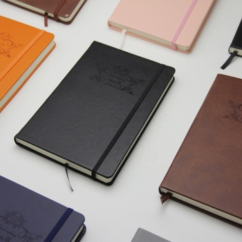 custom printed A5 hardcover pu leather notebook