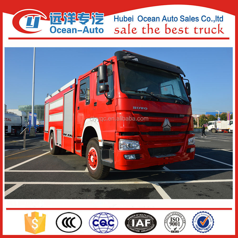 China manufacturers howo foam tank fire fighting truck with water pump for sale
