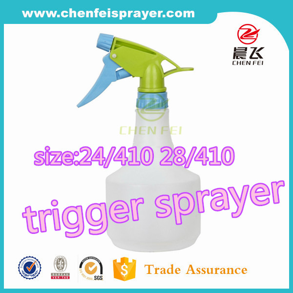 Cute color portable water dispenser 24mm 28mm plastic bottle trigger sprayer head for cleaning
