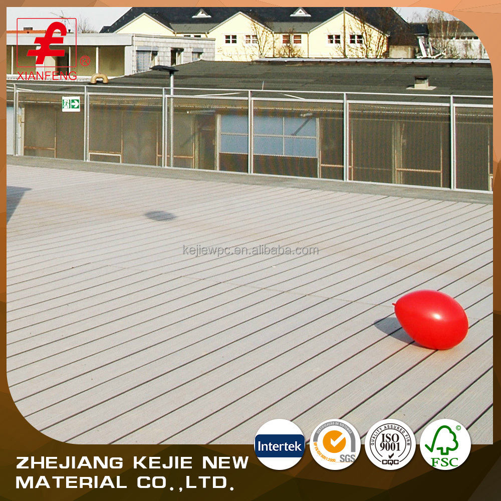 2016 WPC decking/low price WPC flooring fire-resistant/easy installed WPC composite decking floor