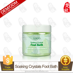 Soaking Crystals Foot Bath Spa Salt Scented With Tea Tree Essential Oil