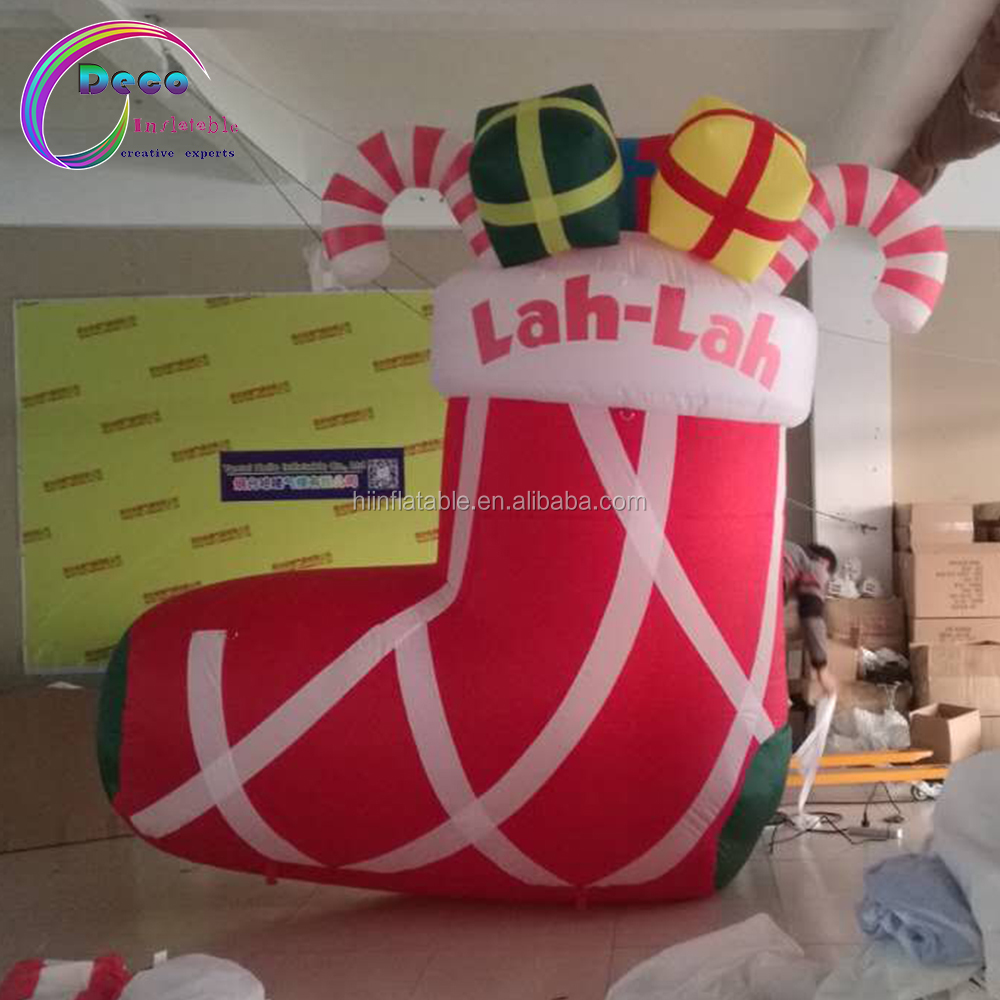 inflatable Christmas stocking gifts inflatable socks for Christmas festival decoration