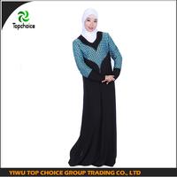 Fashion zipper abaya yiwu muslim clothing