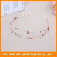New products superior quality crystal bridal headbands with fast delivery