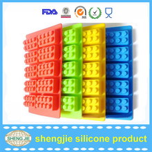 China manufacturing Colorful silicone ice cube maker Set of 4 building blocks ice mold