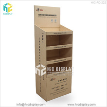 Supermarket retail cardboard advertising soft drinks display stand