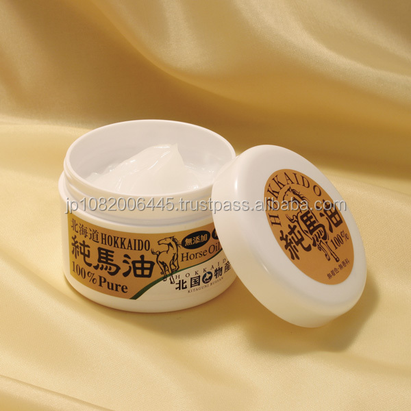 Japanese highly moisturizing Hokkaido pure horse oil as antifungal cream