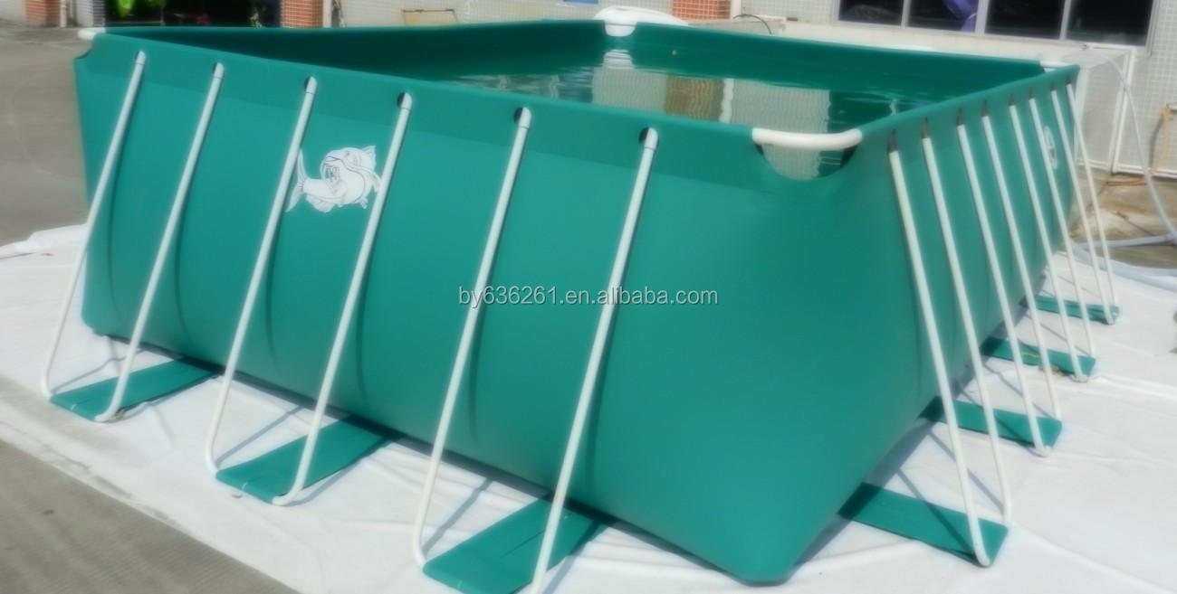 Estanque de peces de piscifactor a de pl stico flexible for Estanques plasticos para peces
