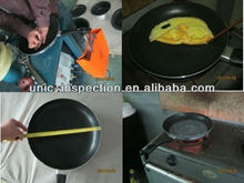 frying pan inspection/quality control in household appliance/professional third party inspection company