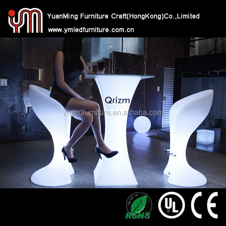 Modern Plastic Furniture Cocktail Table/Led Bar Furniture/Led furniture