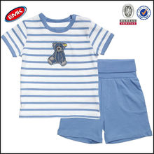 cheap high quality children summer clothes boys cotton t shirt and shorts set