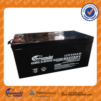 long deep cycle maintenance free solar gel lead acid battery 12V250AH