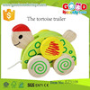 new product the tortoise trailer funny turtle toys wooden OEM wooden animal toys for children EZ5109