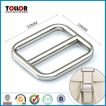 Fashion shiny nickel custom metal strap buckle for belt