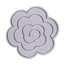 Metal Decorative Paper Cutting Dies Template for DIY Scrapbooking/Photo Album Metal Craft Embossing Folder Stencil Stereo Flower