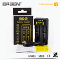 2017 New Wholesale Universal Basen BO2 dual slots 18650 26650 USB cable 5V/2A rohs battery charger