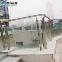 Wholesale removable glass outdoor metal stair railing