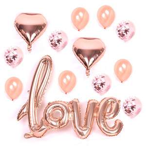 DMTE038 Wholesale Fantasy And Beautiful Rose Gold Balloon Set For Party Decorations Wedding Decoration