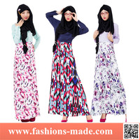 2016 Latest Design Muslim Dress Printing High Quality Muslim Dress Abaya for Ladies