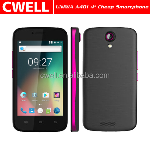 Cheap 3G Dual SIM 4 Inch Touch Screen Custom Android Mobile Phone China Smartphone Unlock
