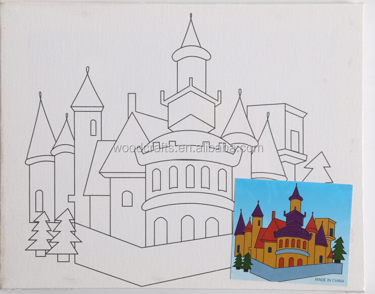 JX-005 Castle Color Filling Drawing Board