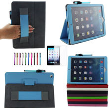 two fold leather case with arm holder for ipad air