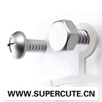 Creative design Plastic electric plating silver screw style laundry hanger
