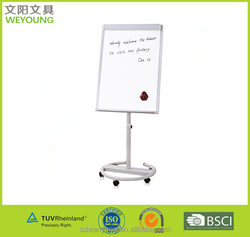 Luxurious Fast Moving Height Adjustable Flip Chart Easel Flipchart Stand For Training