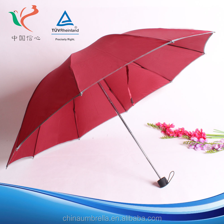 High Quality optional color Windproof Anti foldable rain umbrella