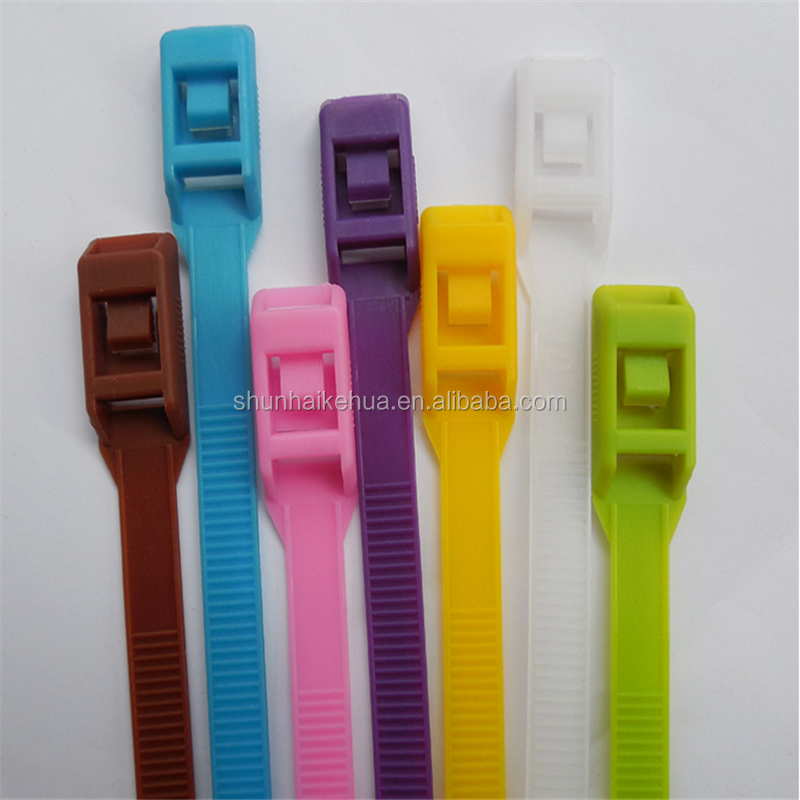 CE&ROHS&SGS nylon cable ties/100 200mm 500mm colorful Reusable cable ties