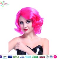 Styler Brand fashion 10 inch synthetic hair red ombre wig short curly wigs for white women