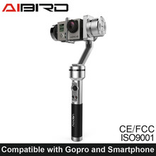 New product AIbird Uoplay Handheld Gimbal Stabilizer for Go Pro Action Camera Sports Cam and Smartphone