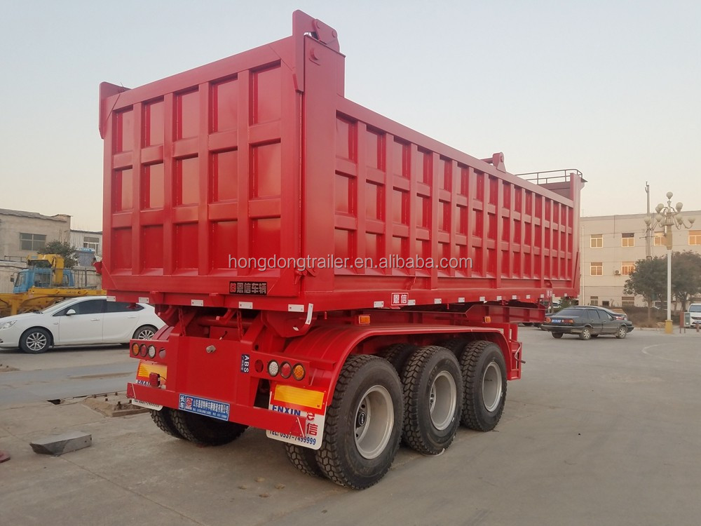 35cbm U shape 3 axles dump trailer truck with low price