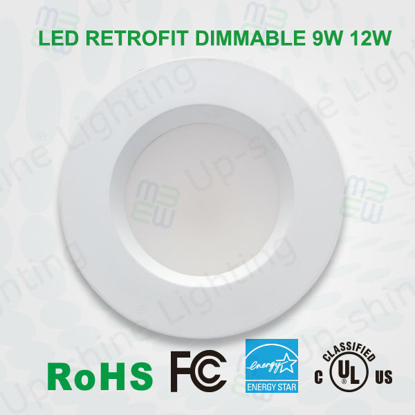E26 & GU24 base LM80 chip Energy Star UL listed 12W 4 inch dimmable LED RETRO-FIT Recessed Downlights
