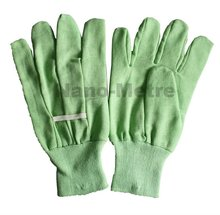 NMSAFETY Free sample green glove garden / glove cotton with mini PVC dots on palm work glove