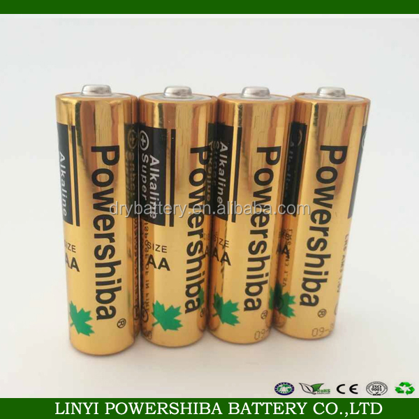 China manufacturer alkaline dry battery size D / C / AA / AAA