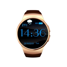 New Gold Smart Watch Camera with iOS and Android Video Calling Mobile Phone
