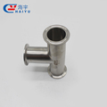 sanitary tee clamp end