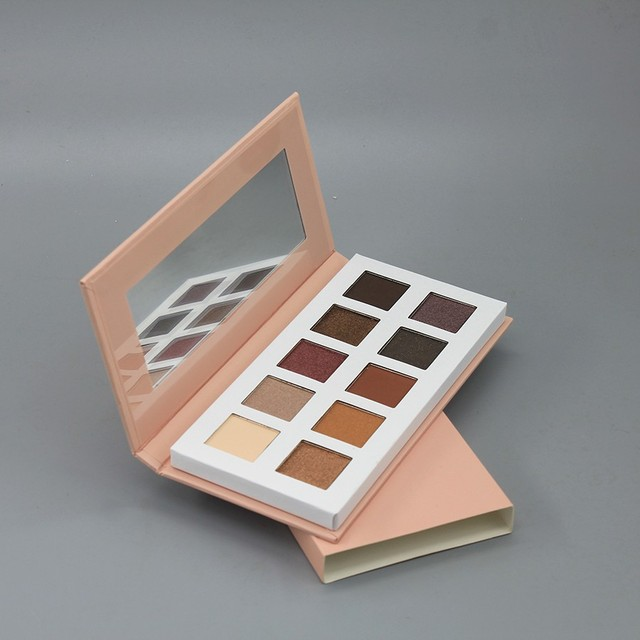sample free beauty cosmetic OEM logo 10 colors eye shadow with cheap price