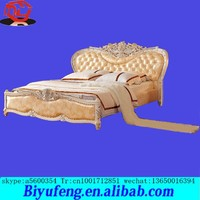 made in China top selling high quality cheap price European leather Top grade luxury king bed