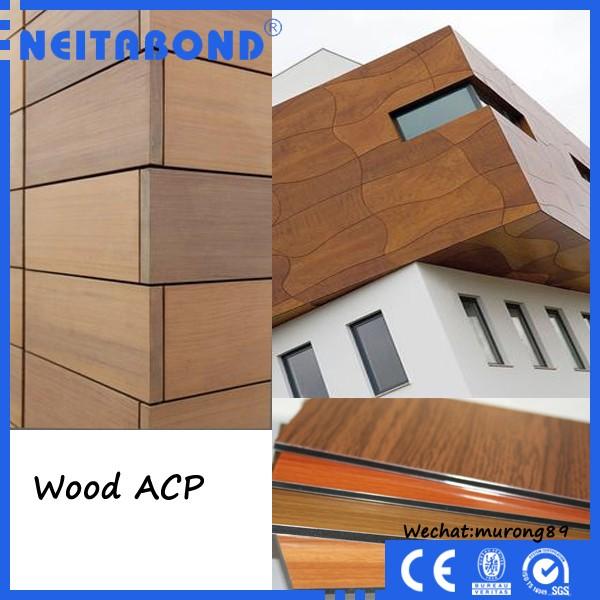 Composite Metal Column Covers : Neitabond wood acp sheet for decoration view