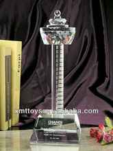 islamic laser engraving crystal tower gifts