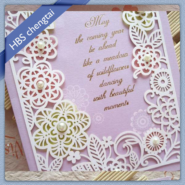 Customized design art paper fasion wedding card invitation,handmade wedding card designs,