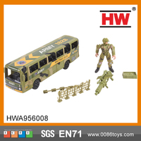 Hot Sale Boys Military (Free Wheel) /Mini Bus , Soldiers, Accessories Plastic Figure Toy