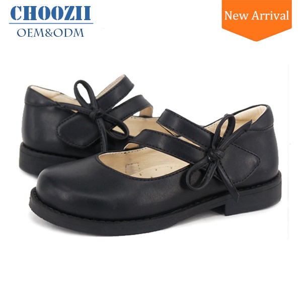 Primary School Girls New Style Dress Shoes Genuine Leather Shoes