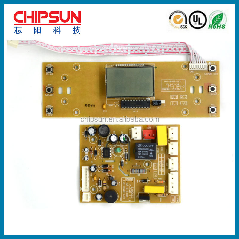 China Printed circuit board Custom-made Multilayer Pcba LCD display Bread Maker