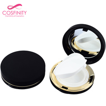 Wholesales recyclable plastic empty cosmetic packaging powder puff box pressed powder case