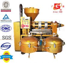 mini crude oil refinery shelled peanut oil hot screw squeeze large oil presser with filter