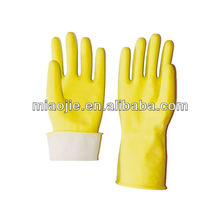 Gants en latex jaune